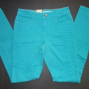 DKNY Skinny Soho Colored Jeans Women size 2 Green